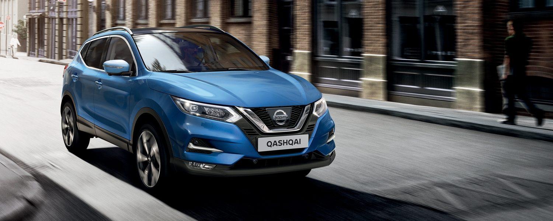 Nissan Qashqai front city-driving