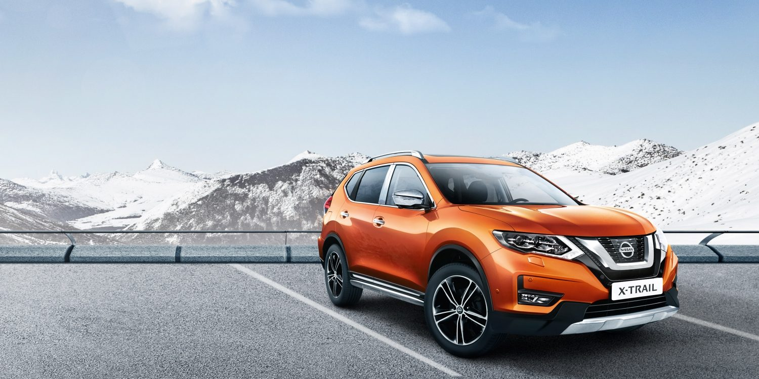 X-Trail on snow accessorised with crossover pack