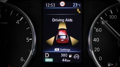 X-Trail TFT-Display – Fahrerassistenz-Systeme