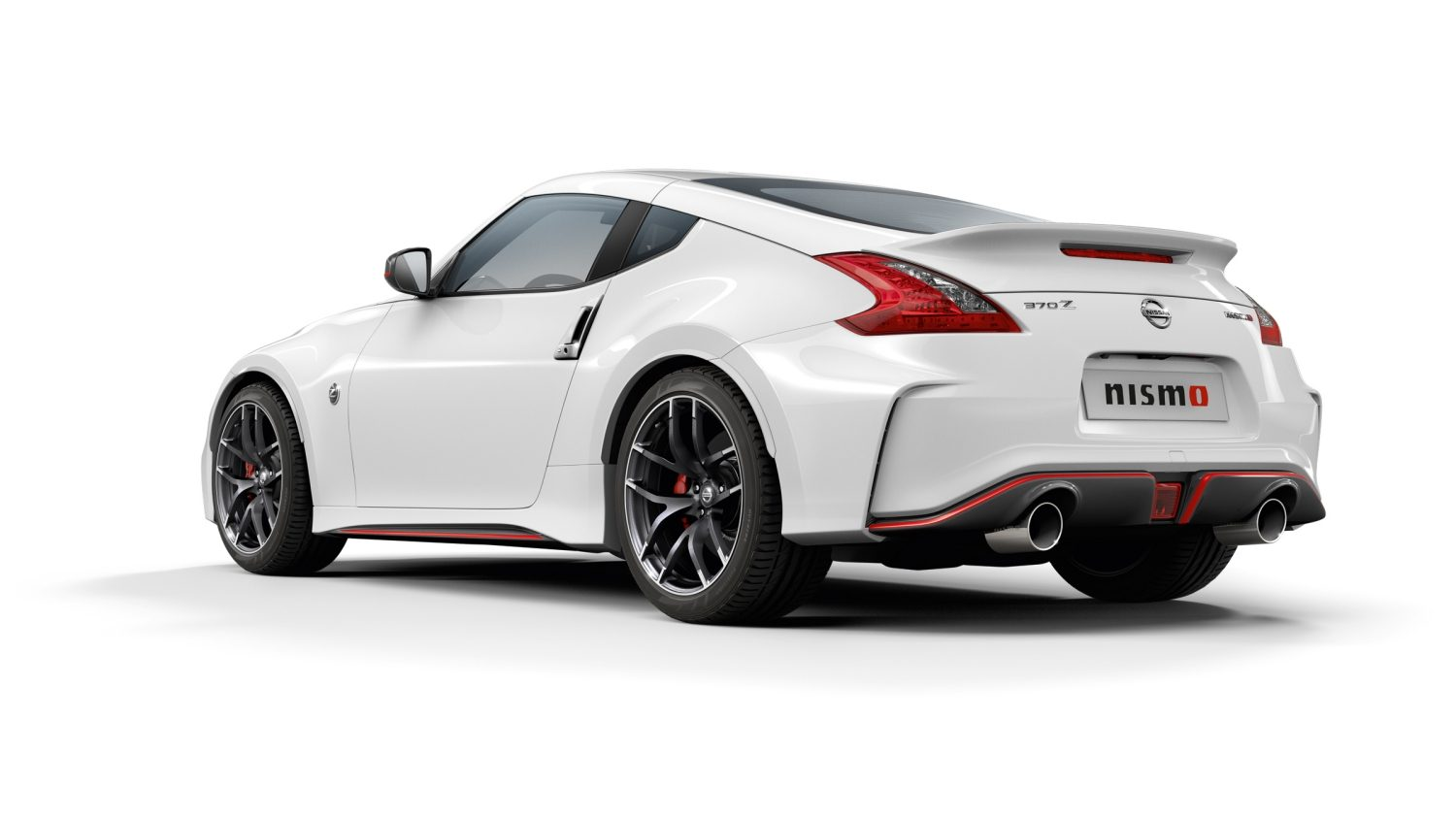NISSAN 370Z COUPÉ Brilliant White – Heckansicht
