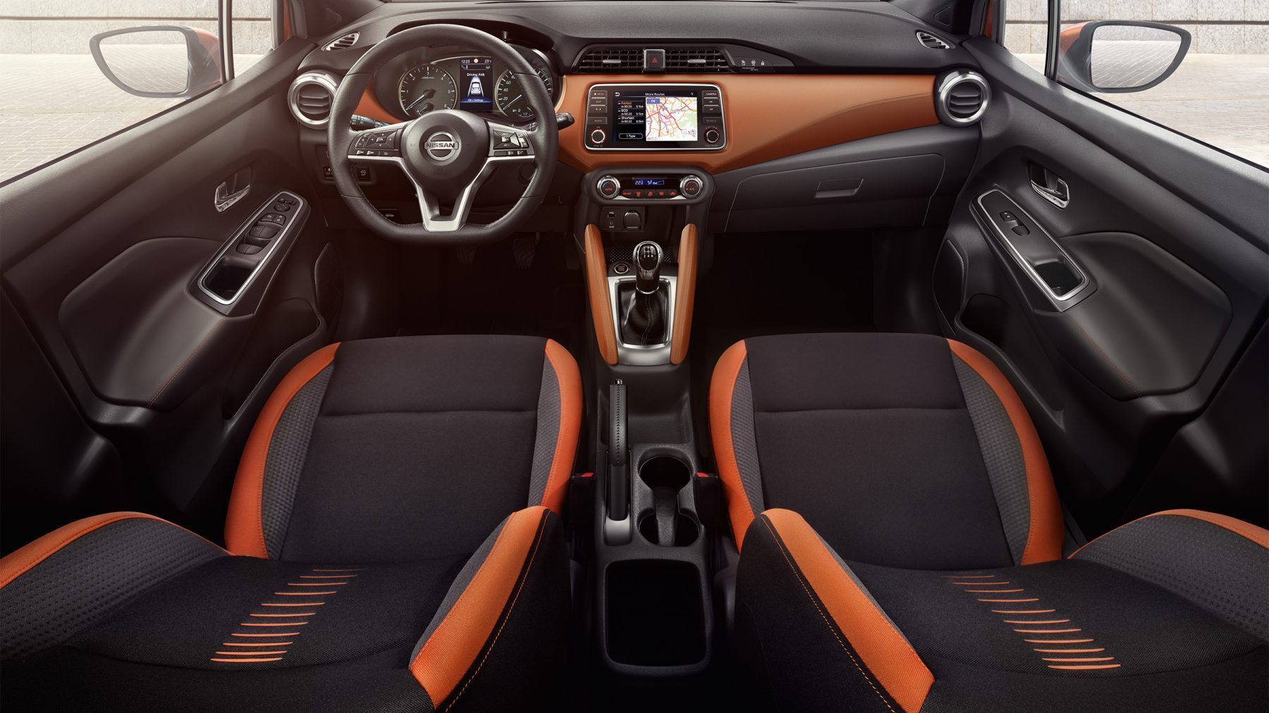 Nissan Micra Energy Orange sisu