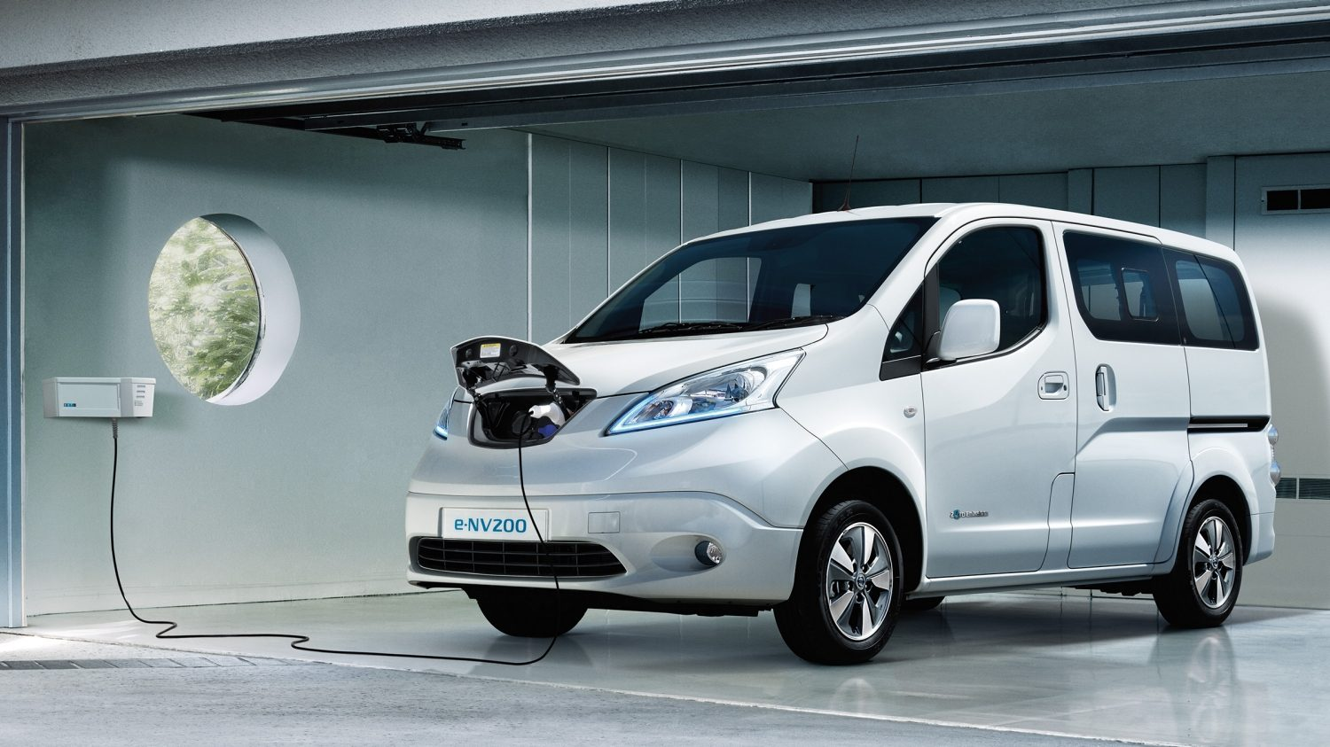 New Nissan e-NV200 COMBI charging in a private garage