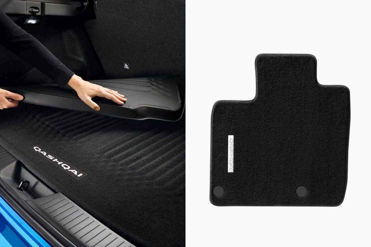 Nissan New QQ quality mats and trunkliner reversible access