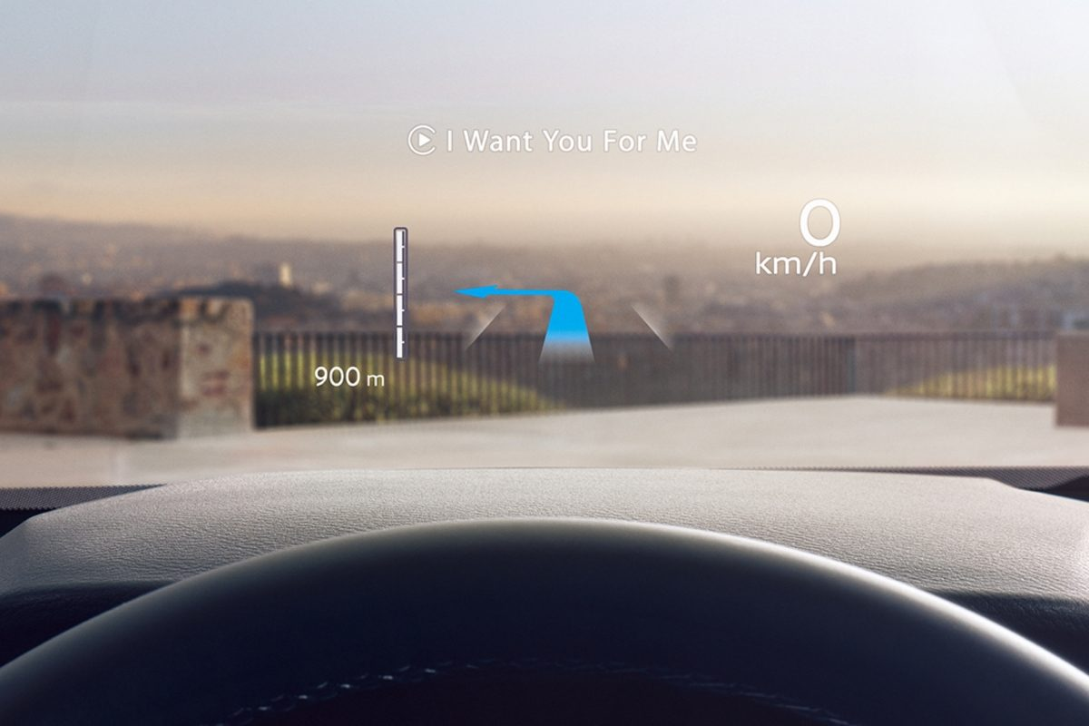 Nissan QQ Head up display