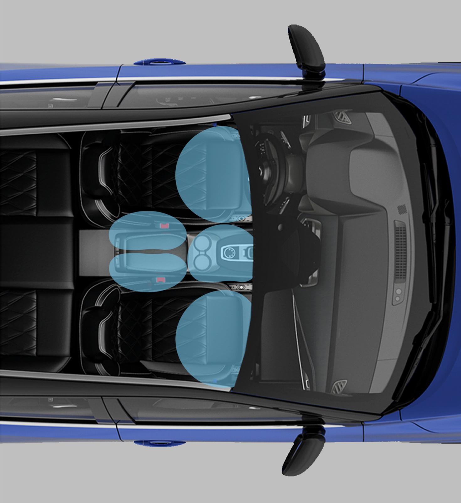 Nissan Qashqaiinteliģentā nejaušas braukšanas joslas maiņas novēršanas palīgsistēma.