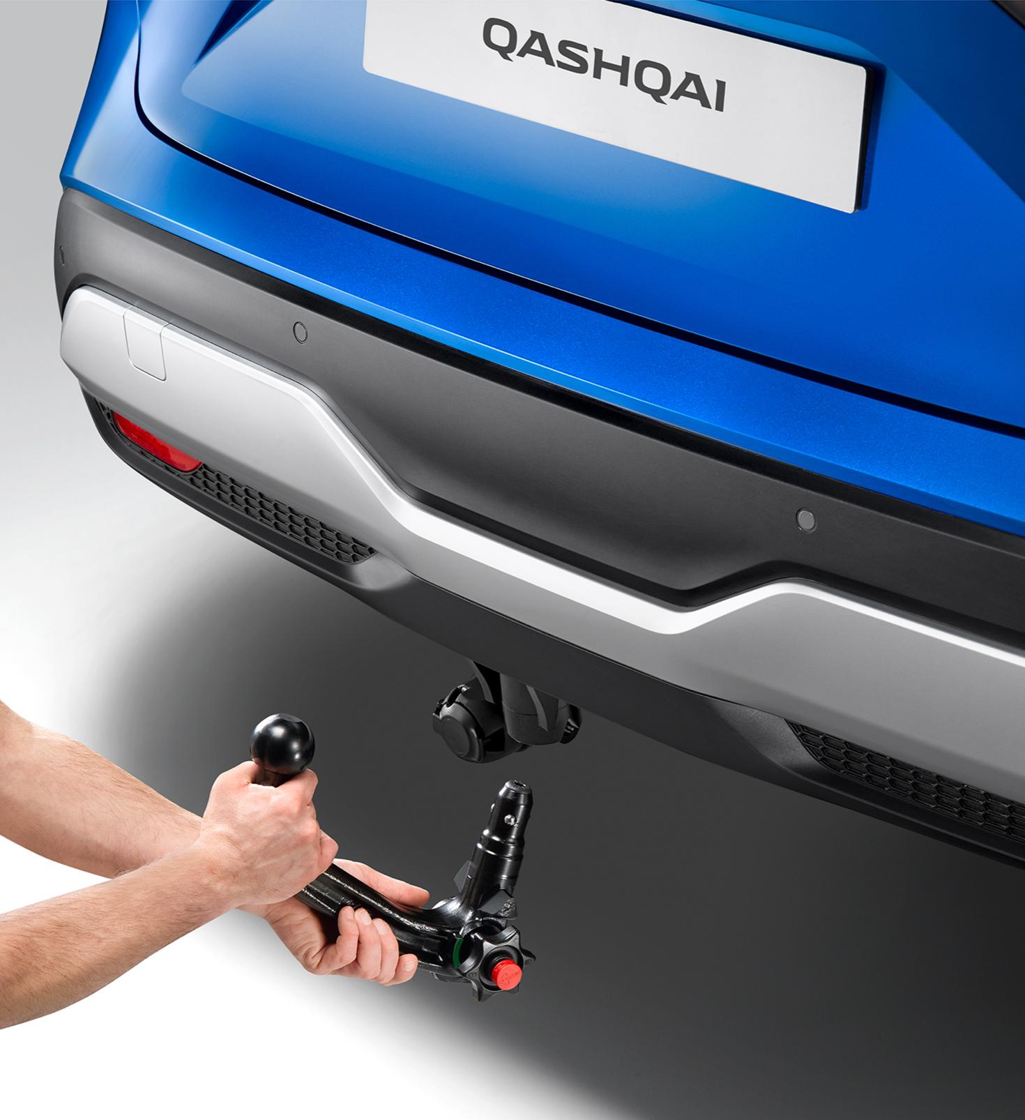 Jaunā Nissan Qashqai kvalitatīvie automobiļa salona paklājiņi un abpusējais bagāžas nodalījuma ieliktnis.
