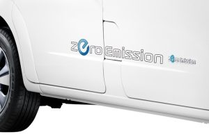 Nissan e-NV200 - Exterior - Zero emission sticker - Dark grey for light colors white, silver…