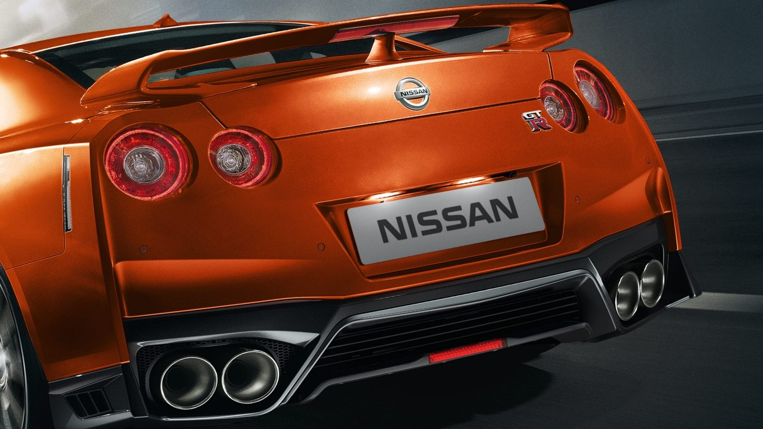 Nissan New GT-R rear fascia