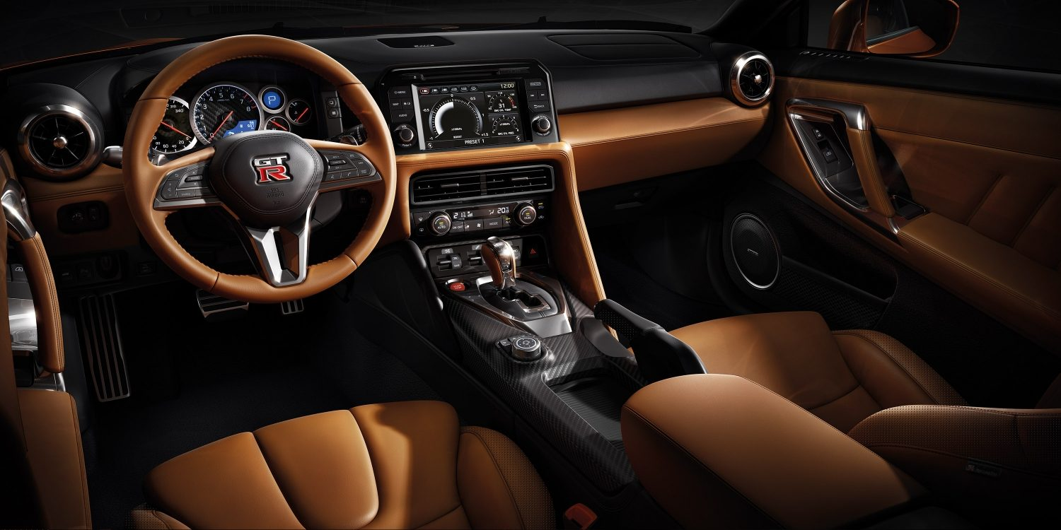 New GT-R interior from driver side