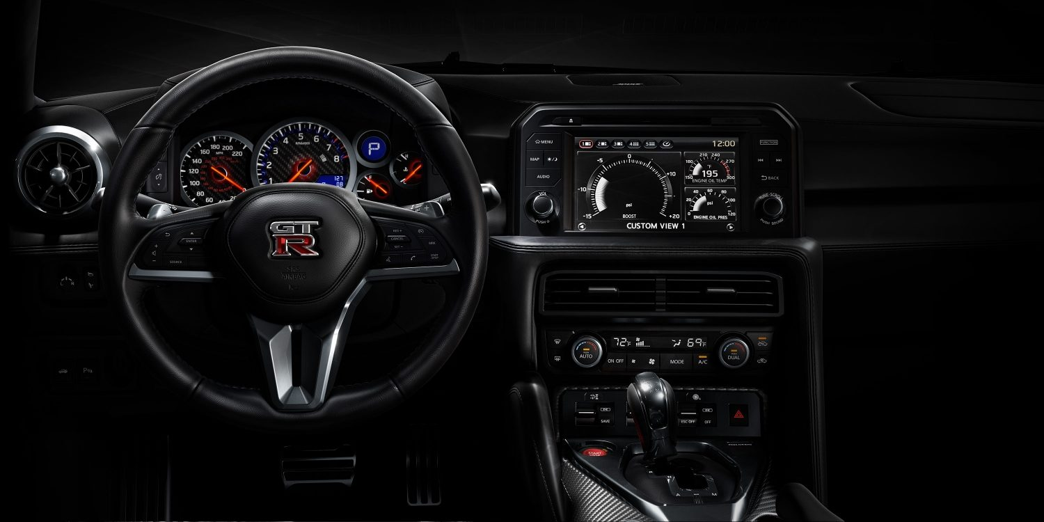 New GT-R interior looking straight into instrument panel