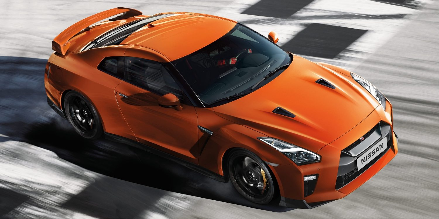 Nissan New GT-R high angle action shot