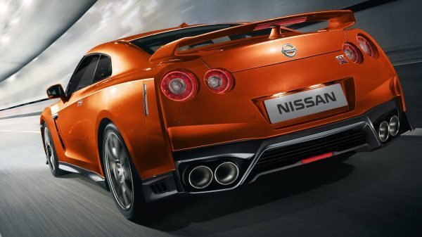Nissan New GT-R rear action shot