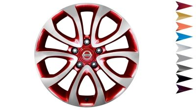 2018 Nissan JUKE 17 inch alloy wheel ATO red