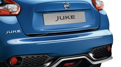 2018 Nissan JUKE back door lower finisher enigma black