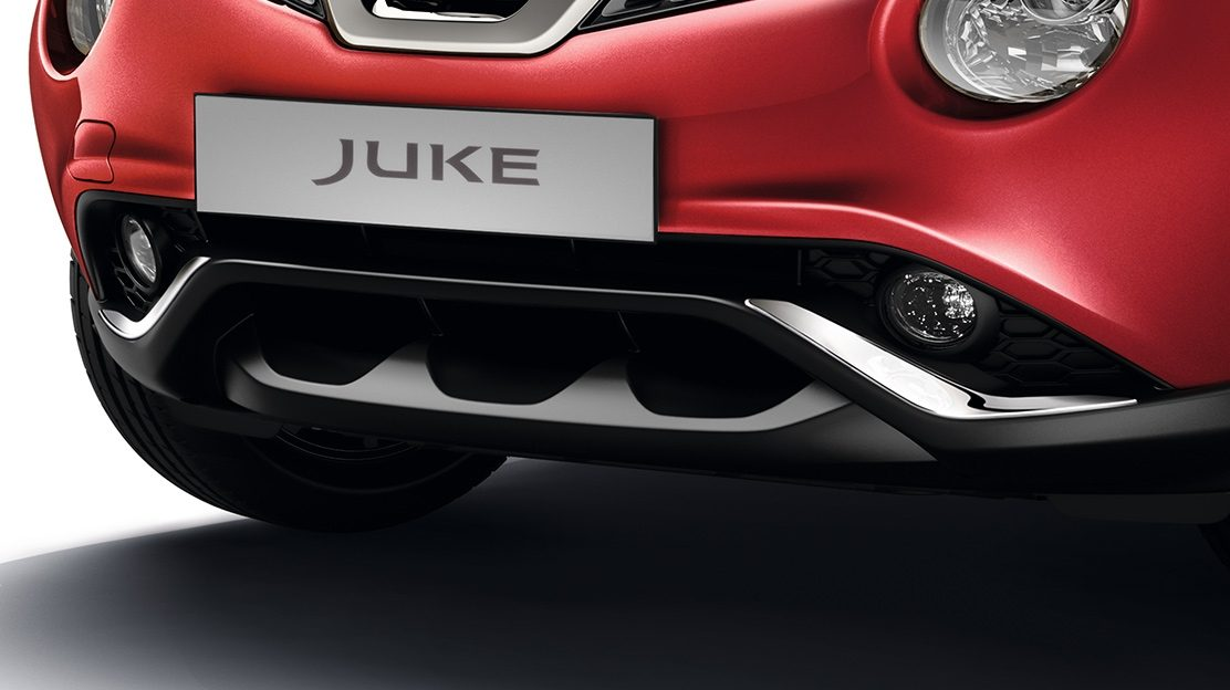 2018 Nissan JUKE front and rear bumper lower panel chrome