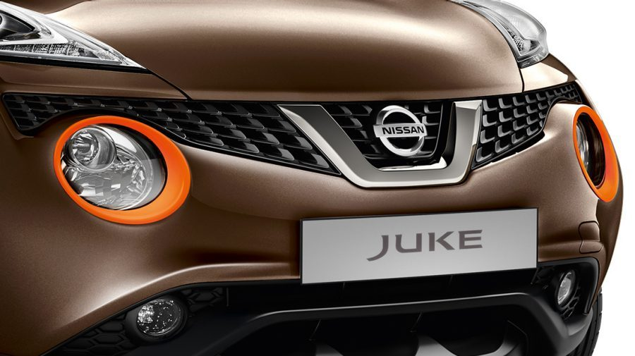 Nissan JUKE 2018, embellecedores de los faros en energy orange