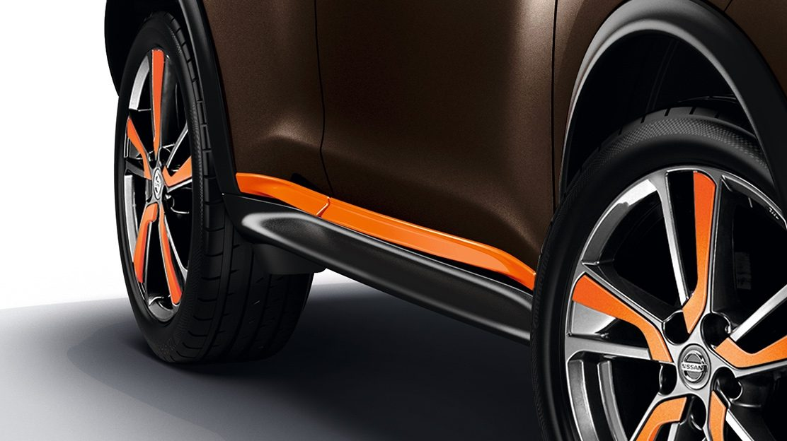 2018 Nissan JUKE karme i sidedøre i Energy Orange