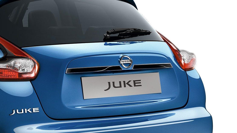 Nissan JUKE 2018: ручка багажника, черного цвета