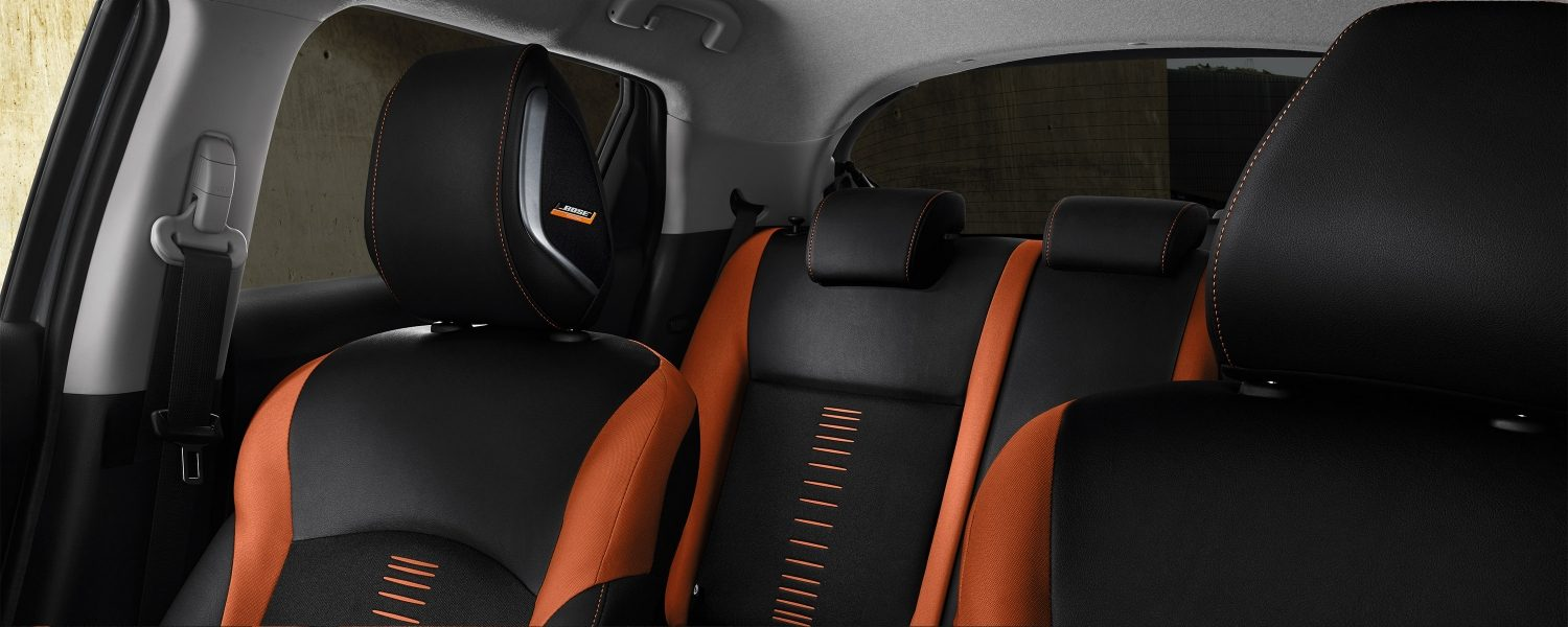 2018 Nissan JUKE Interior with energy orange trim