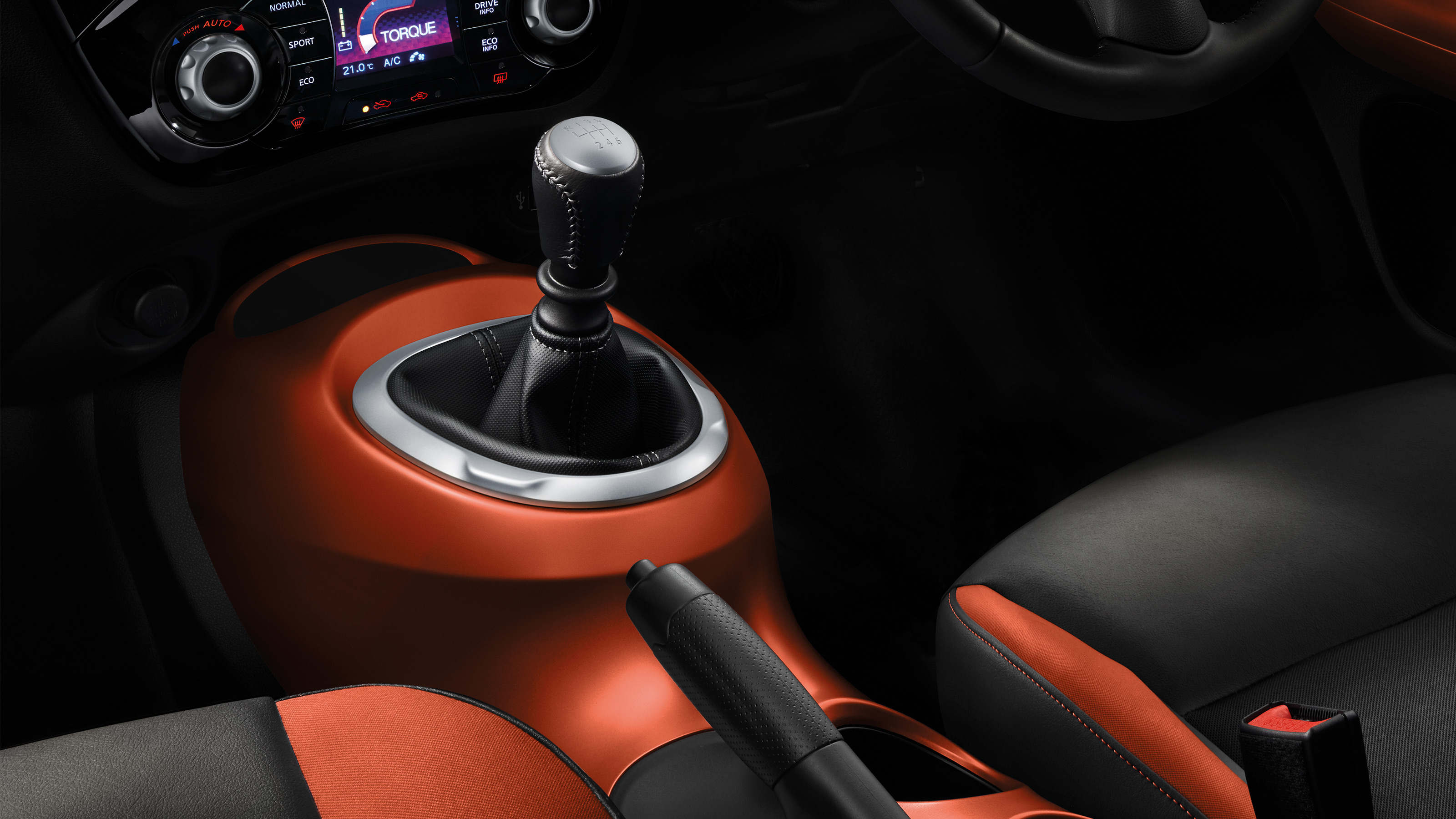 2018 Nissan JUKE orange interior accents