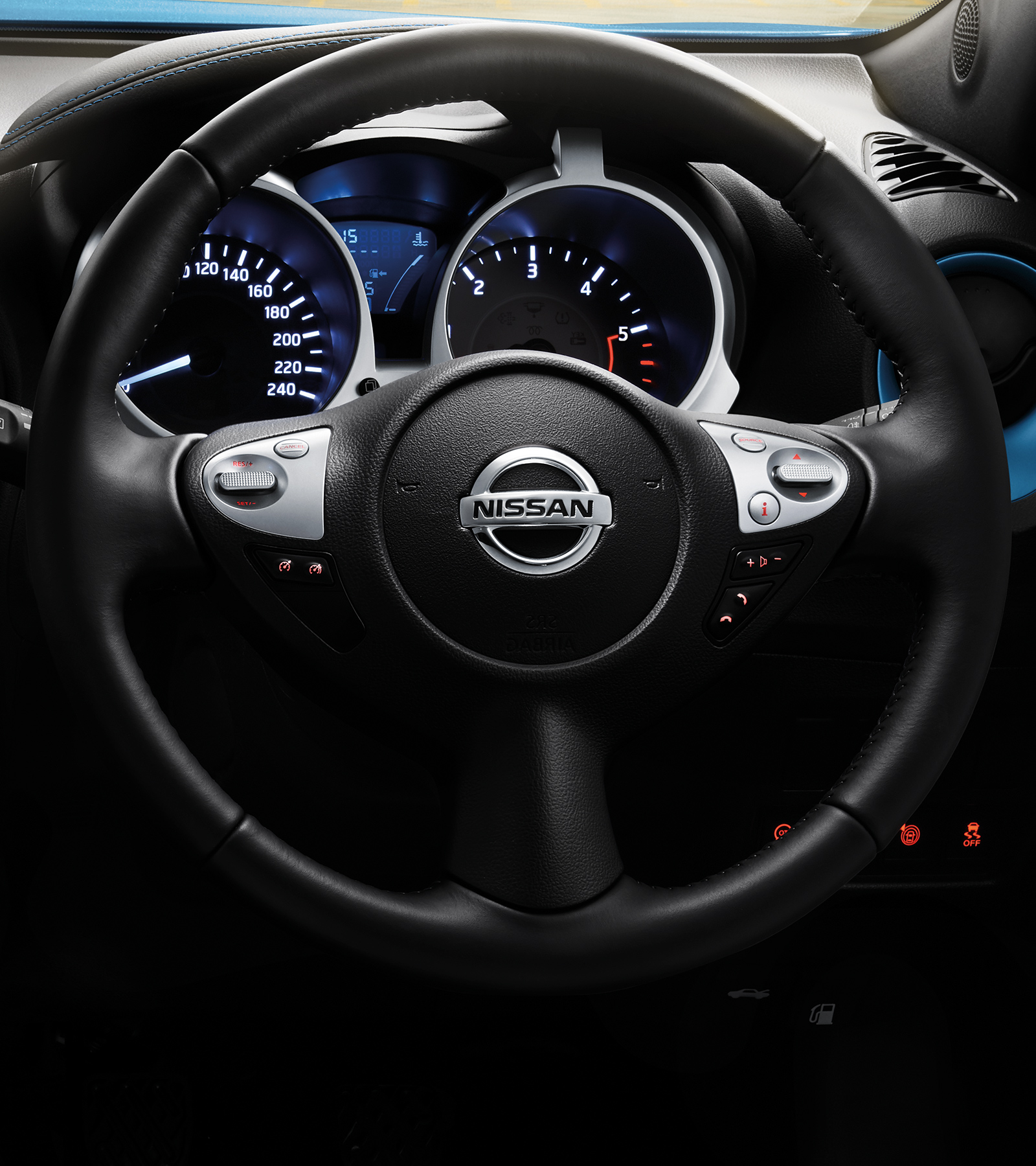 2018 Nissan JUKE steering wheel detail shot