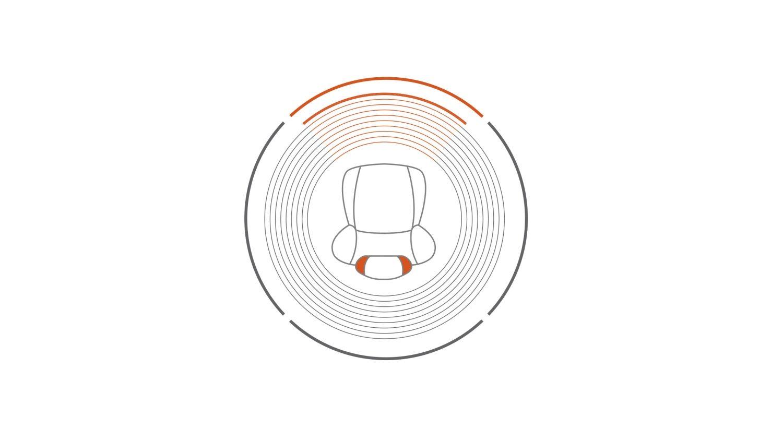 Nissan JUKE 2018: значок встроенного в подголовник динамика с низким уровнем объемного звучания