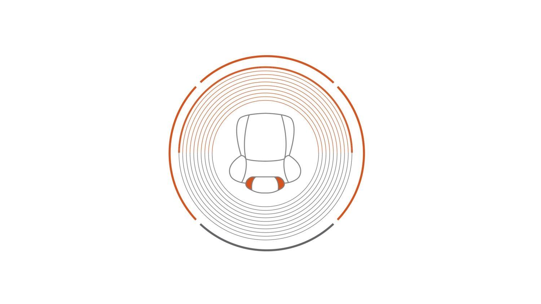 Nissan JUKE 2018: значок встроенного в подголовник динамика со средним уровнем объемного звучания