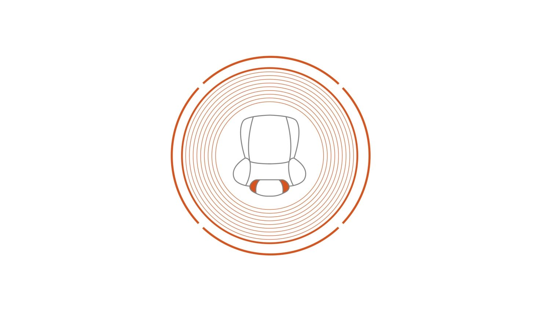 Nissan JUKE 2018: значок встроенного в подголовник динамика с высоким уровнем объемного звучания
