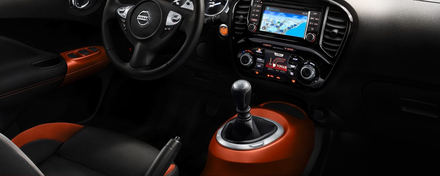 2018 Nissan JUKE interior with orange personalisation