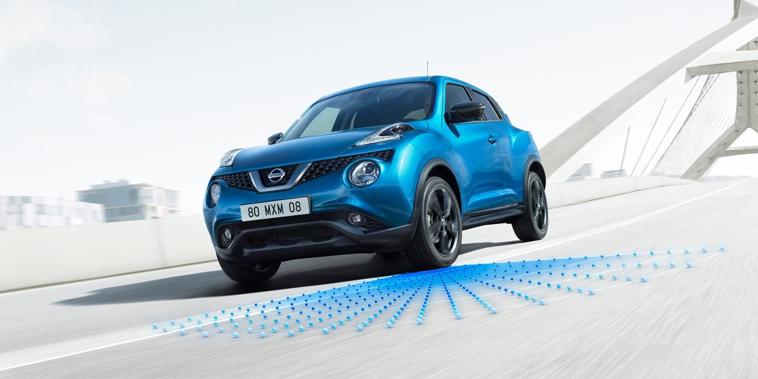 NISSAN JUKE 2018 Intelligenter Spurhalte-Assistent, Illustration