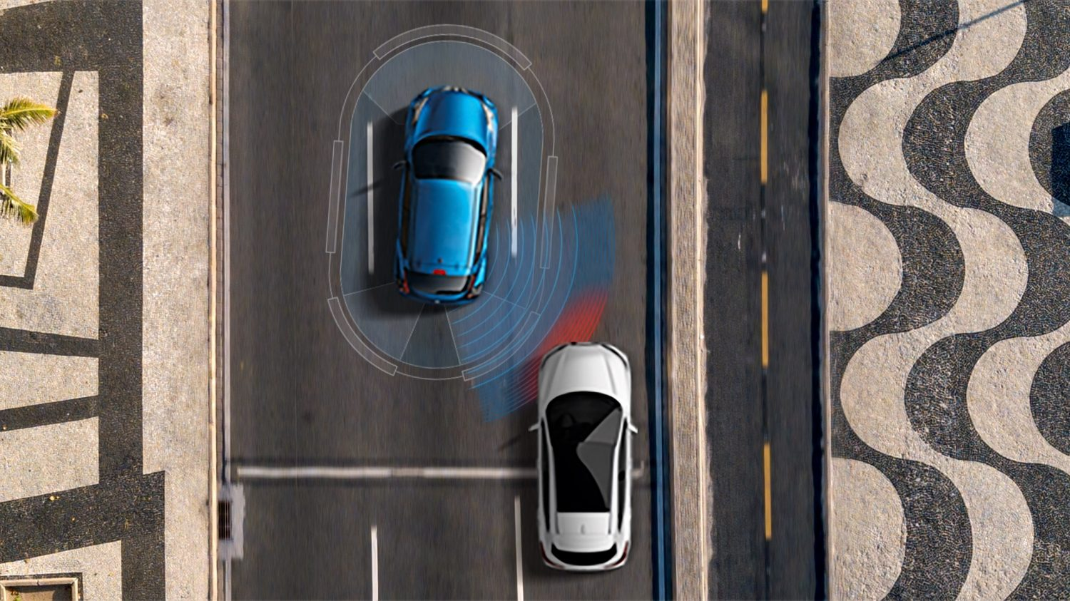 Illustration de la surveillance des angles morts du Nissan JUKE 2018