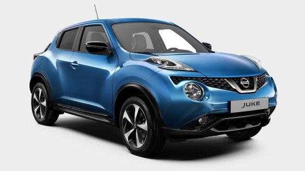 Новий Nissan JUKE у комплектації N-Connecta, вид спереду крупним планом з поворотом на 3/4