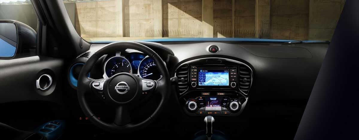 2018 Nissan JUKE power blue personalisation interior