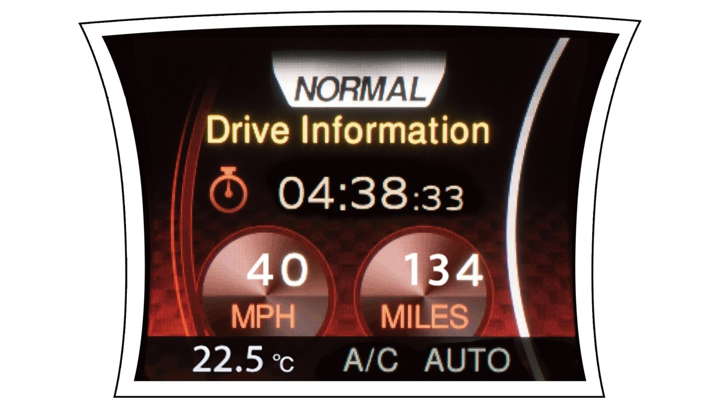 2018 Nissan JUKE drive information screen