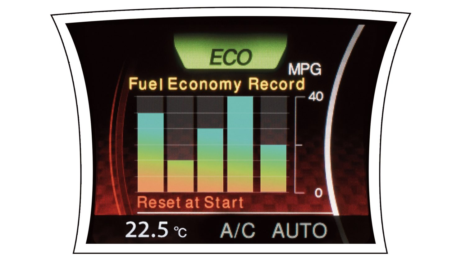 2018 Nissan JUKE fuel consumption screen