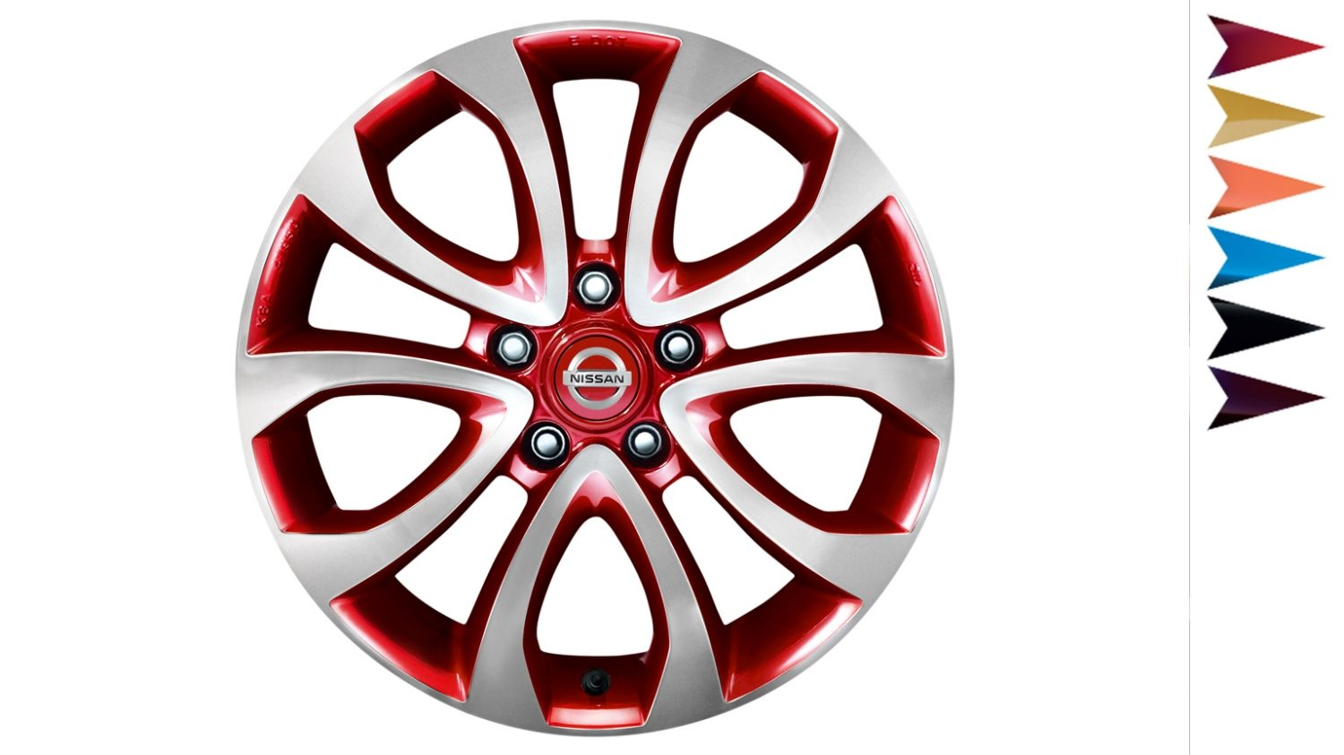 Nissan Juke - Personalisation - 17'' ato alloy wheel detroit red diamond cut