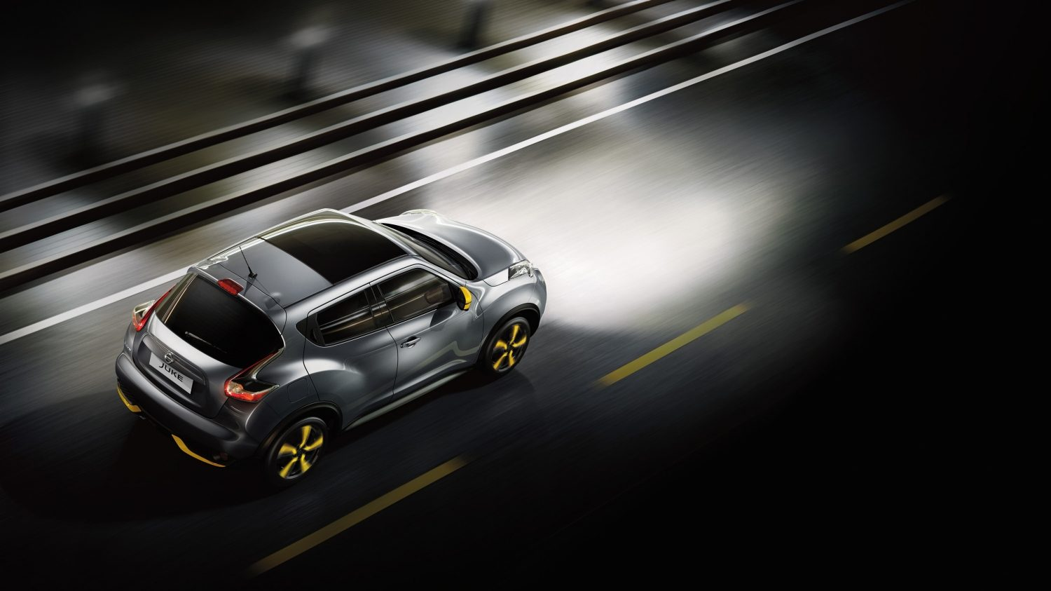 Nissan Juke grey - top view