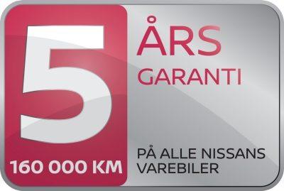 Nissan-varevogn med 5 års garanti