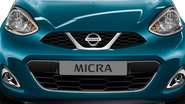Nissan Micra Pacific Blue - Front grill
