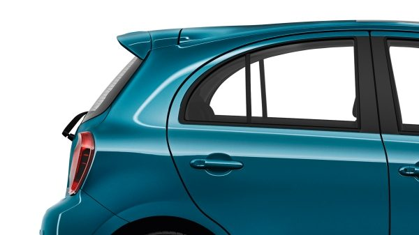 Nissan Micra Pacific Blue - Rear roof spoiler