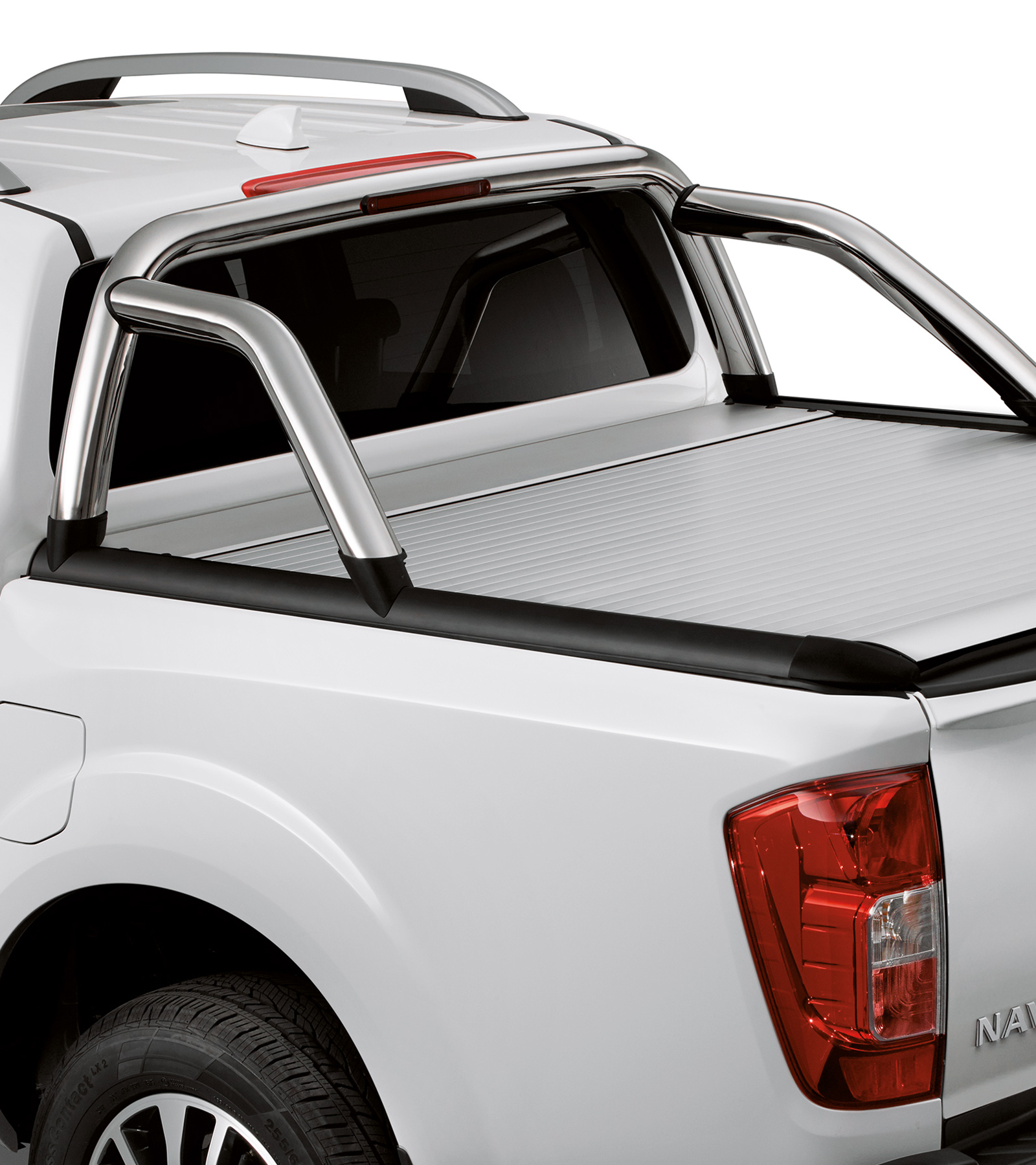 Nissan Navara bed styling bar compatible with roll cover