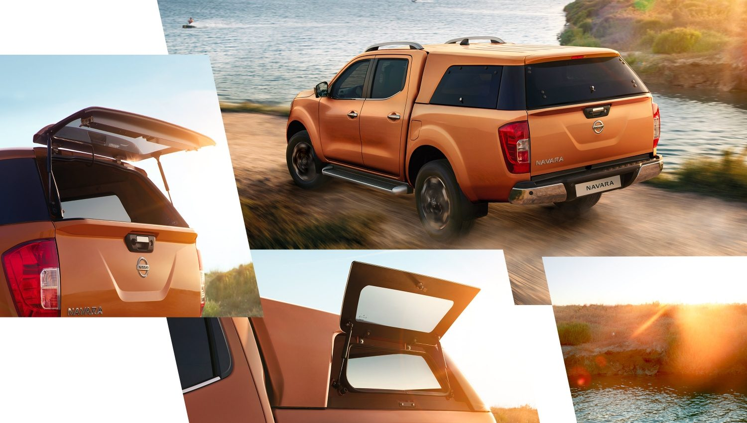 Nissan Navara comp showing the different hard tops