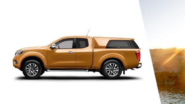 Nissan Navara profile packshot equipped with standard hard top