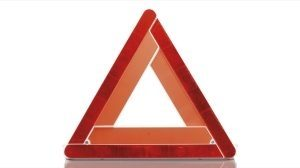 Nissan Navara warning triangle