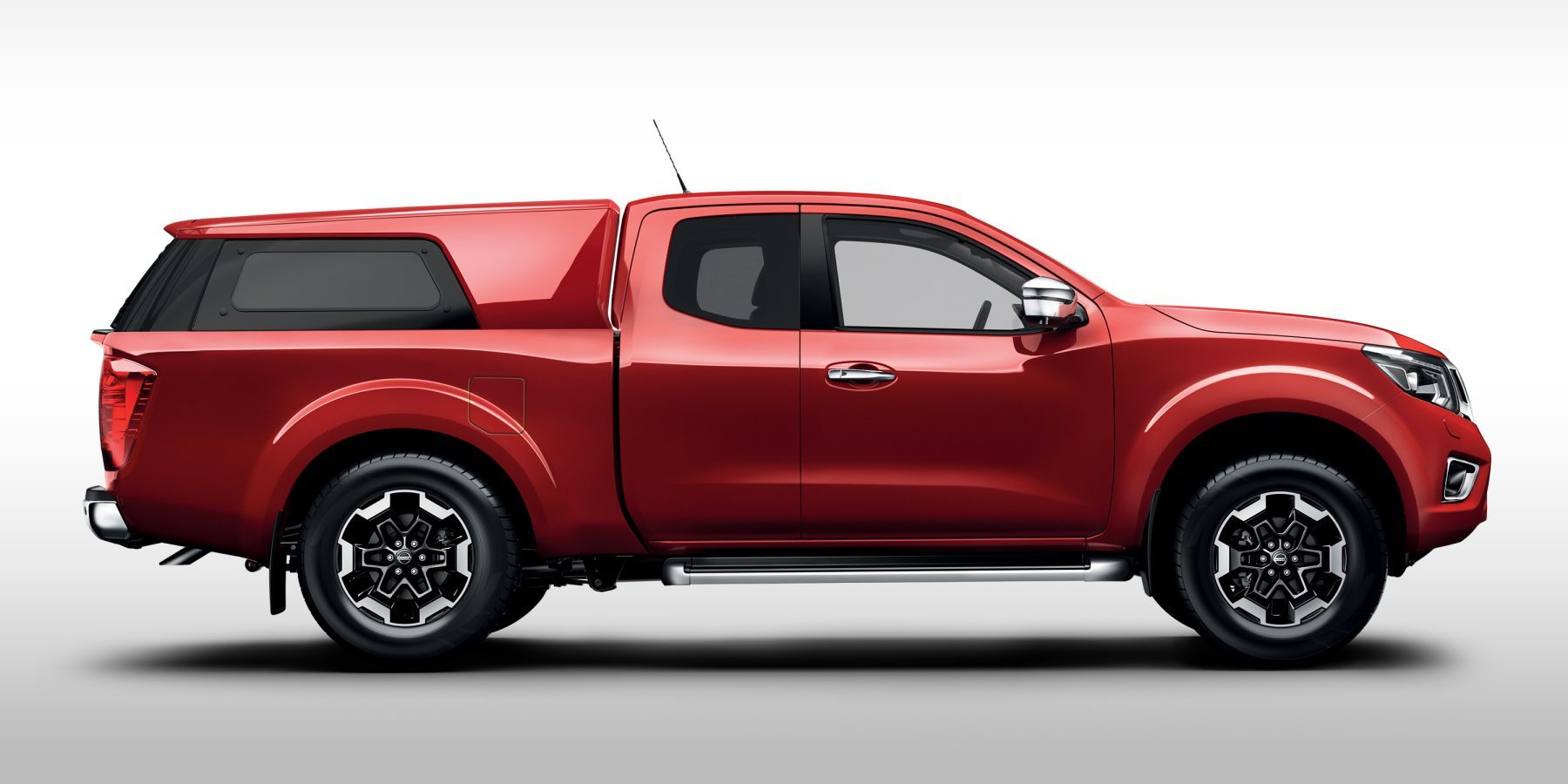 Nissan Navara king cab profile packshot brown with hardtop