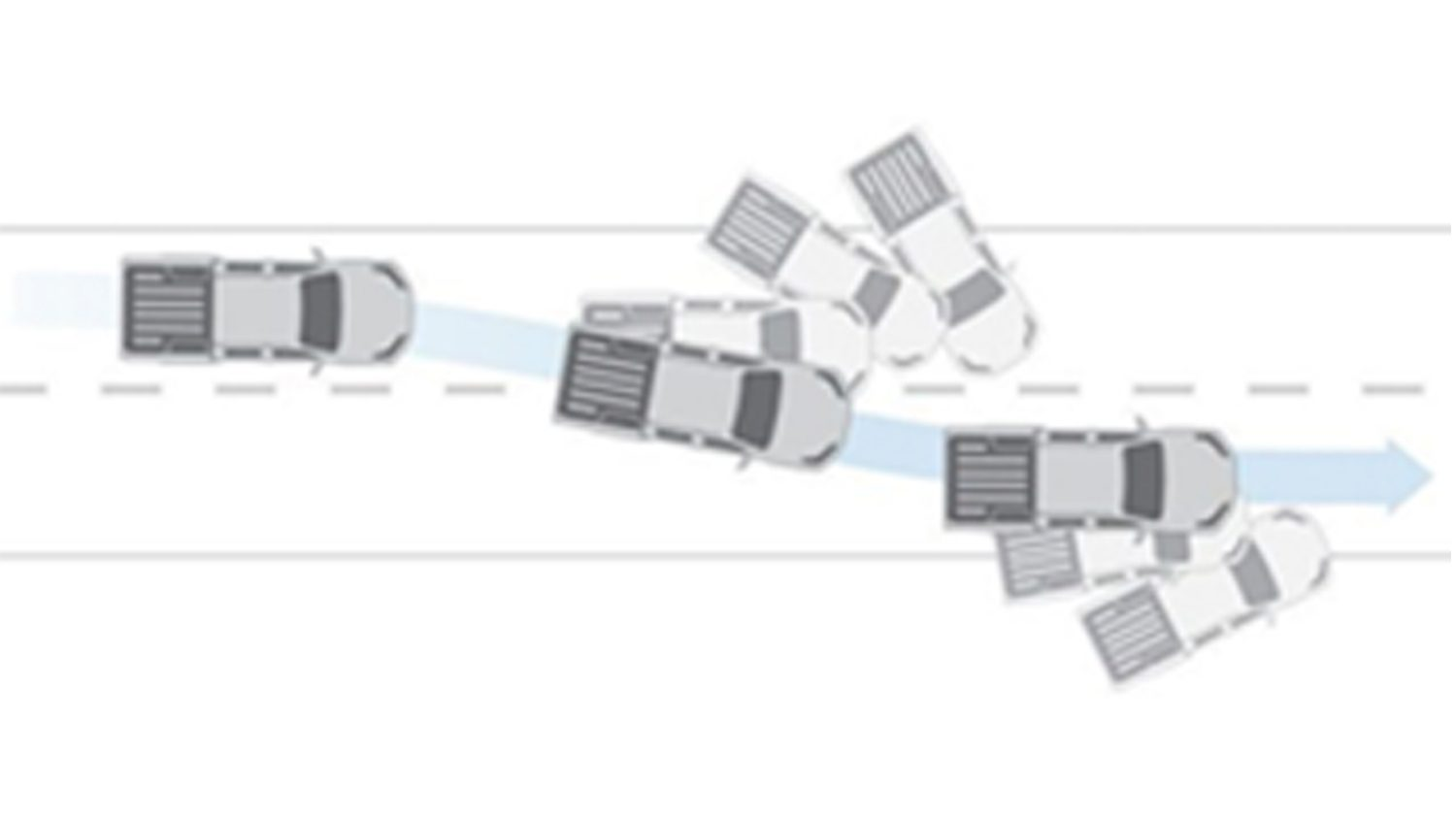 Nissan Navara illustration of the vehicle dynamic control