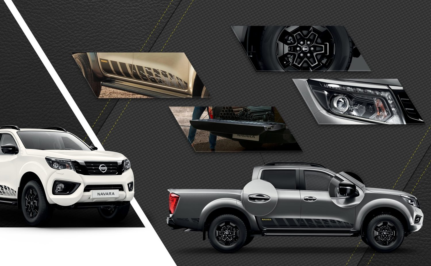 Nissan Navara comp with all the exterior styling details