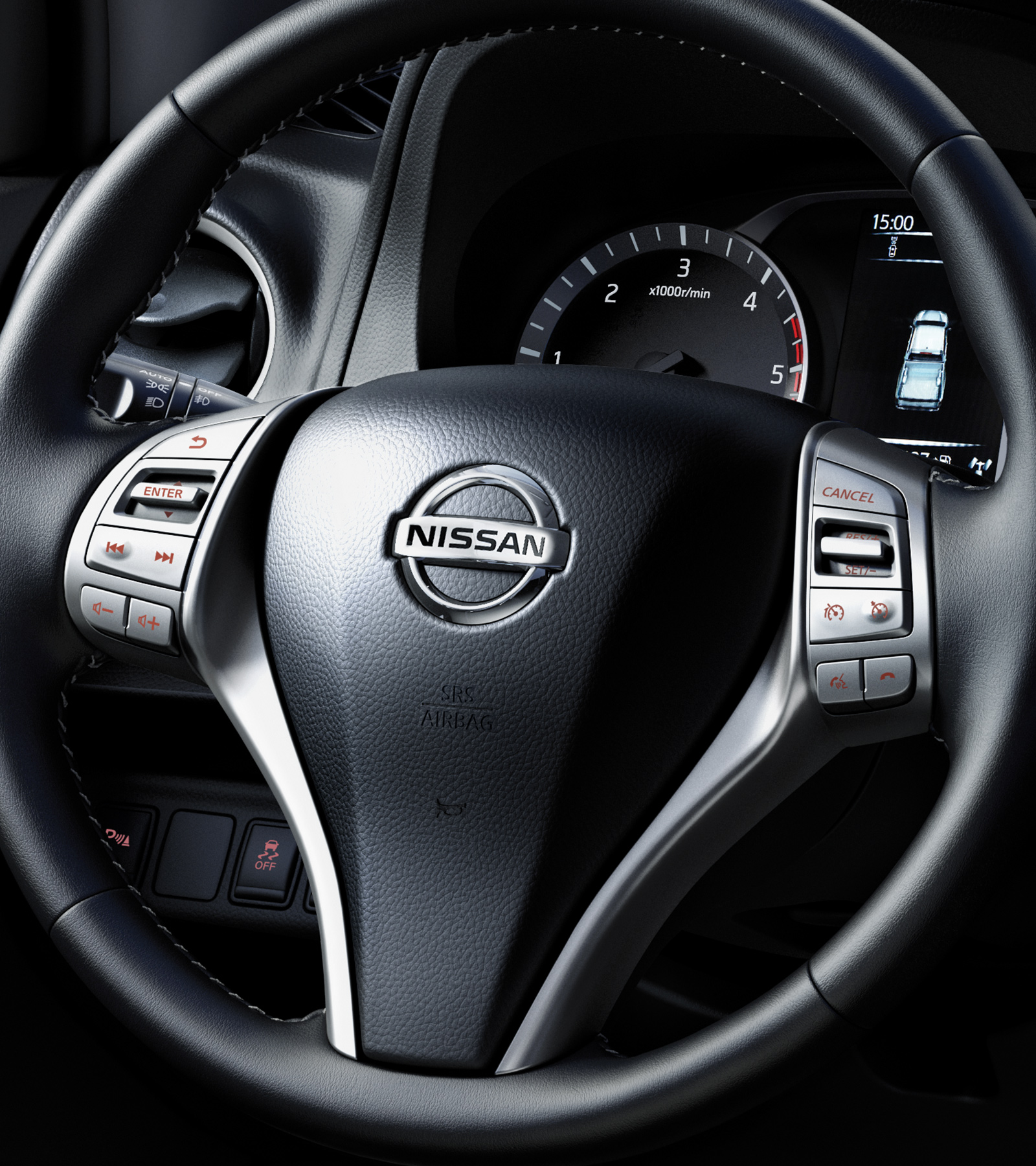 Nissan Navara N-Guard heated steering wheel