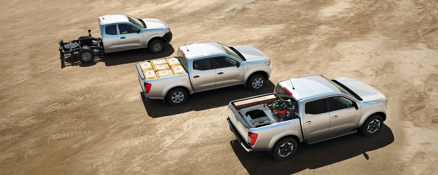 Nissan Navara top view of all three body types available