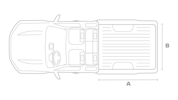 Nissan Navara King cab top view illustration